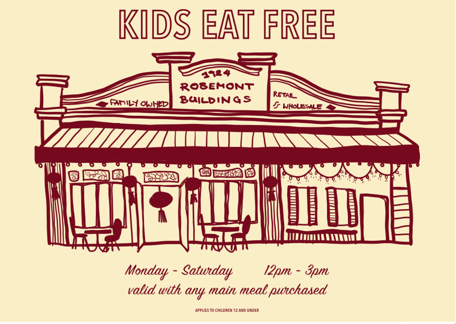 Kid's Eat FREE These School Holidays at Rosemont Hall