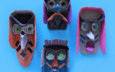 DIY Junk Masks By Mini Mad Things