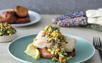 Annabel Cooks: Salmon, Sweet Potato and Spring Salsa