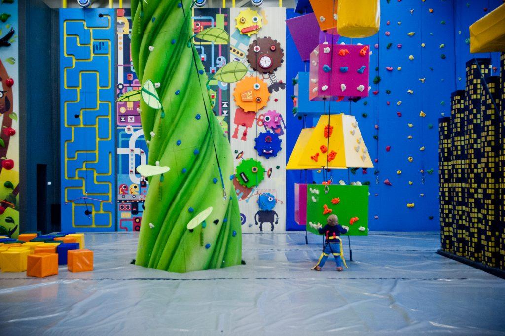 colourful climbing activity at funtopia prospect