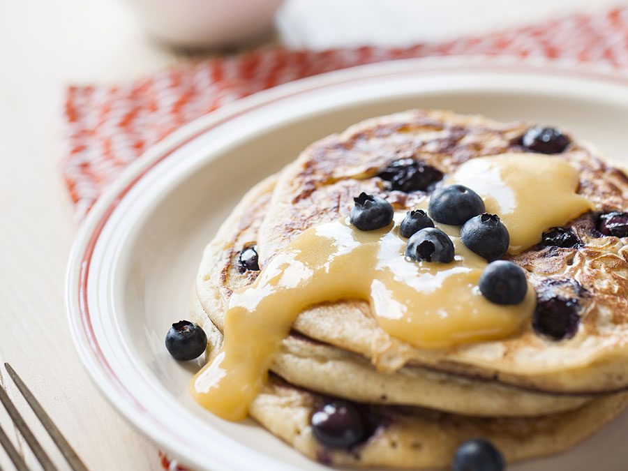 ADELAIDE CENTRAL MARKET RECIPES: BLUEBERRY BUTTERMILK PANCAKES WITH LEMON CURD