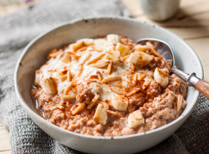 ADELAIDE CENTRAL MARKETS: ALMOND, BANANA AND CINNAMON PORRIDGE