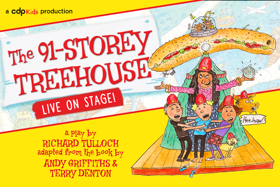 91 storey treehouse live on stage