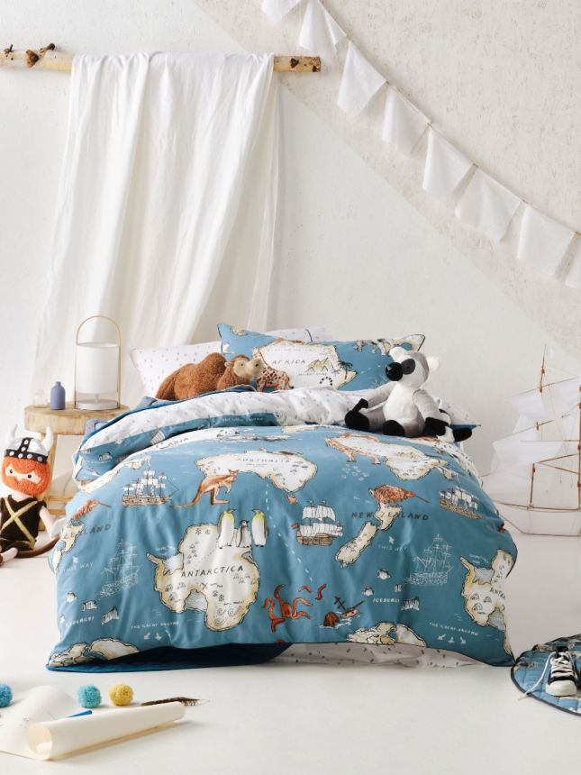 world voyager kids quilt cover set