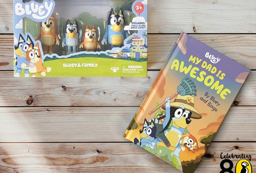 Win: a Father's Day book bundle – including a Bluey Figurine set
