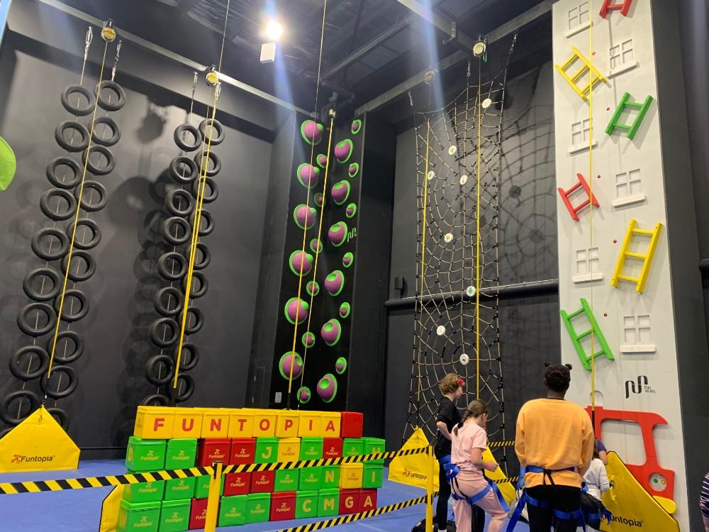 funtopia climbing wall