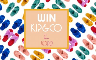 Win: 1 of 5 sets of KIP&CO Mini and Me Slippers