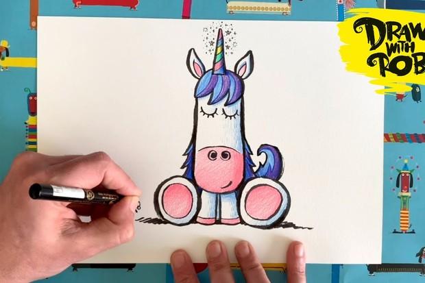 draw with rob unicorn