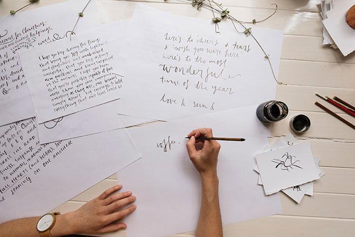 ink lettering workshop bowerbird
