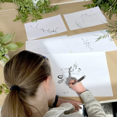 kids sketching workshop