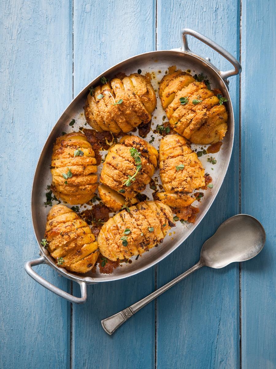 spicy hasselback potato recipe
