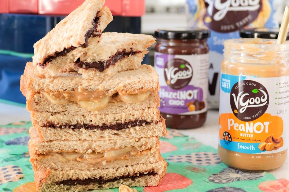 PeaNOT butter and HazelNOT spreads: The nut-free alternative safe for lunchboxes!