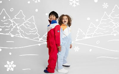 Hit the slopes in style with classic snow suits from Goldie+Ace