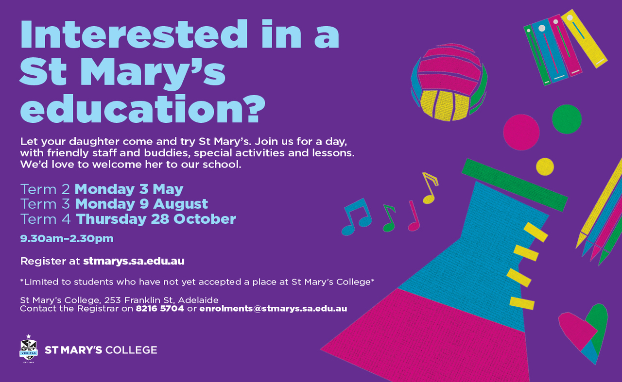 St Mary's College come and try day