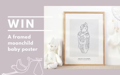 WIN: A custom moonchild baby poster