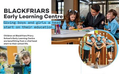 BLACKFRIARS GIVING BOYS AND GIRLS A HEAD START ON THEIR EDUCATION
