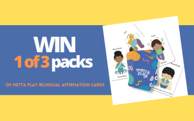WIN: Learn another language through play with 1 of 3 Metta Play Bilingual Affirmation Cards