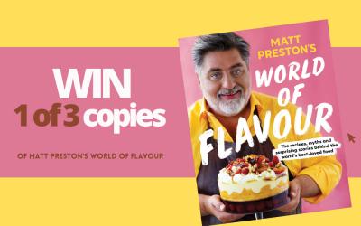 WIN: 1 of 3 copies of Matt Preston's 'World of Flavour'