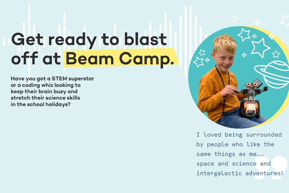beam camp school holidays
